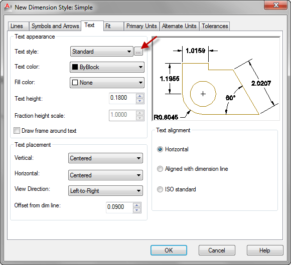 autocad_tips-text-style-for dimension-1