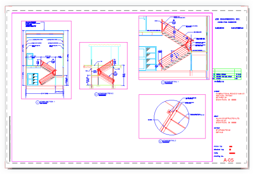 An AutoCAD Layout in colour