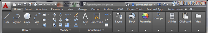 AutoCAD_ribbon
