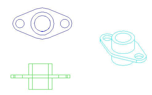 Tutorial: Convert a 3D solid to a 3-view 2D drawing in model