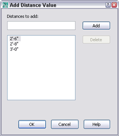 Adding distance value