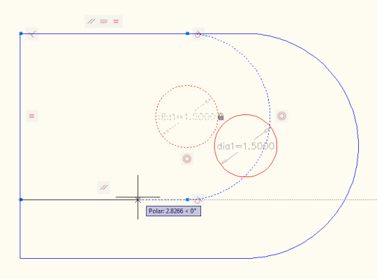 Stretching the model with parametric constraints in AutoCAD 2010